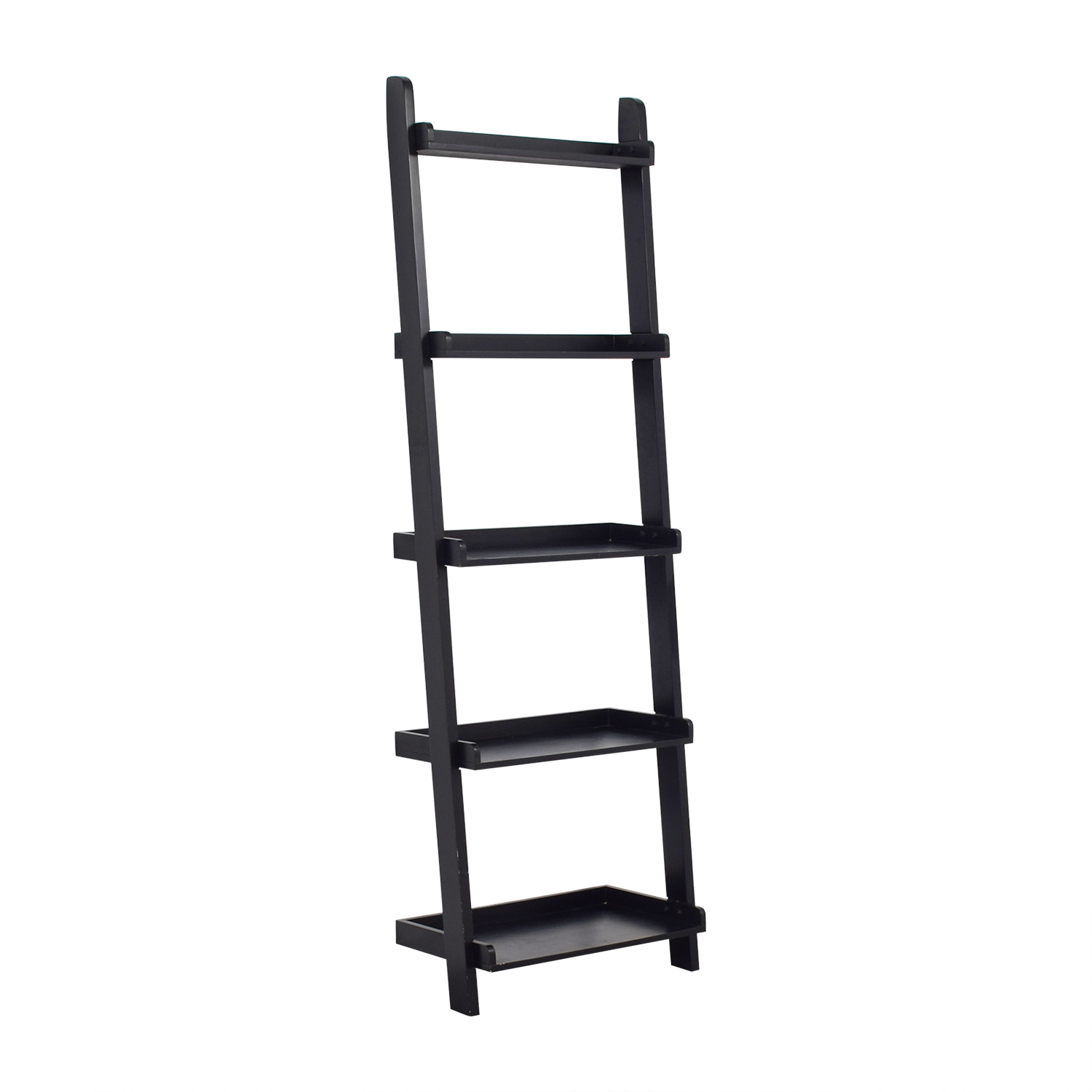 Crate and Barrel Crate & Barrel Black Leaning Bookcase used