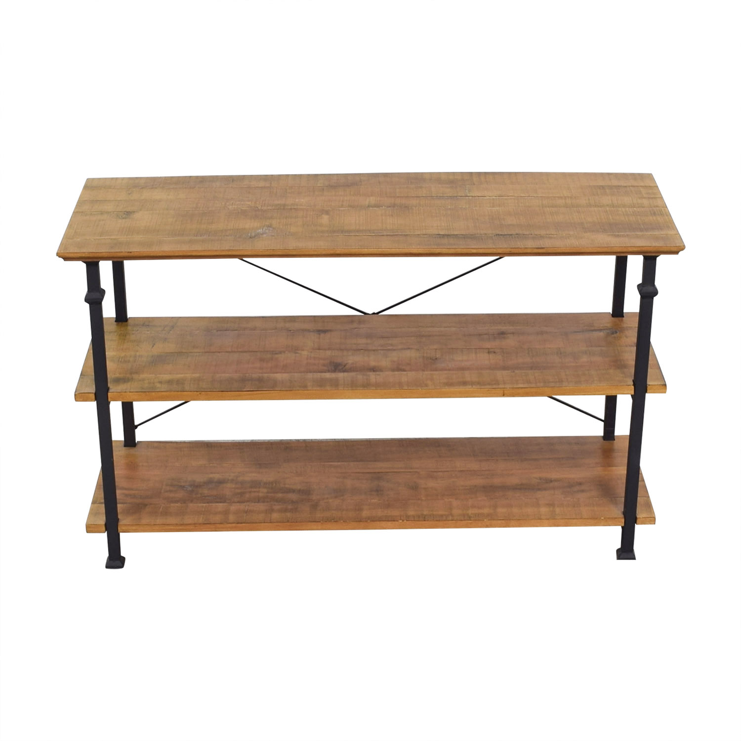 Macy's Macy's Rustic Wood Media Console Table nyc