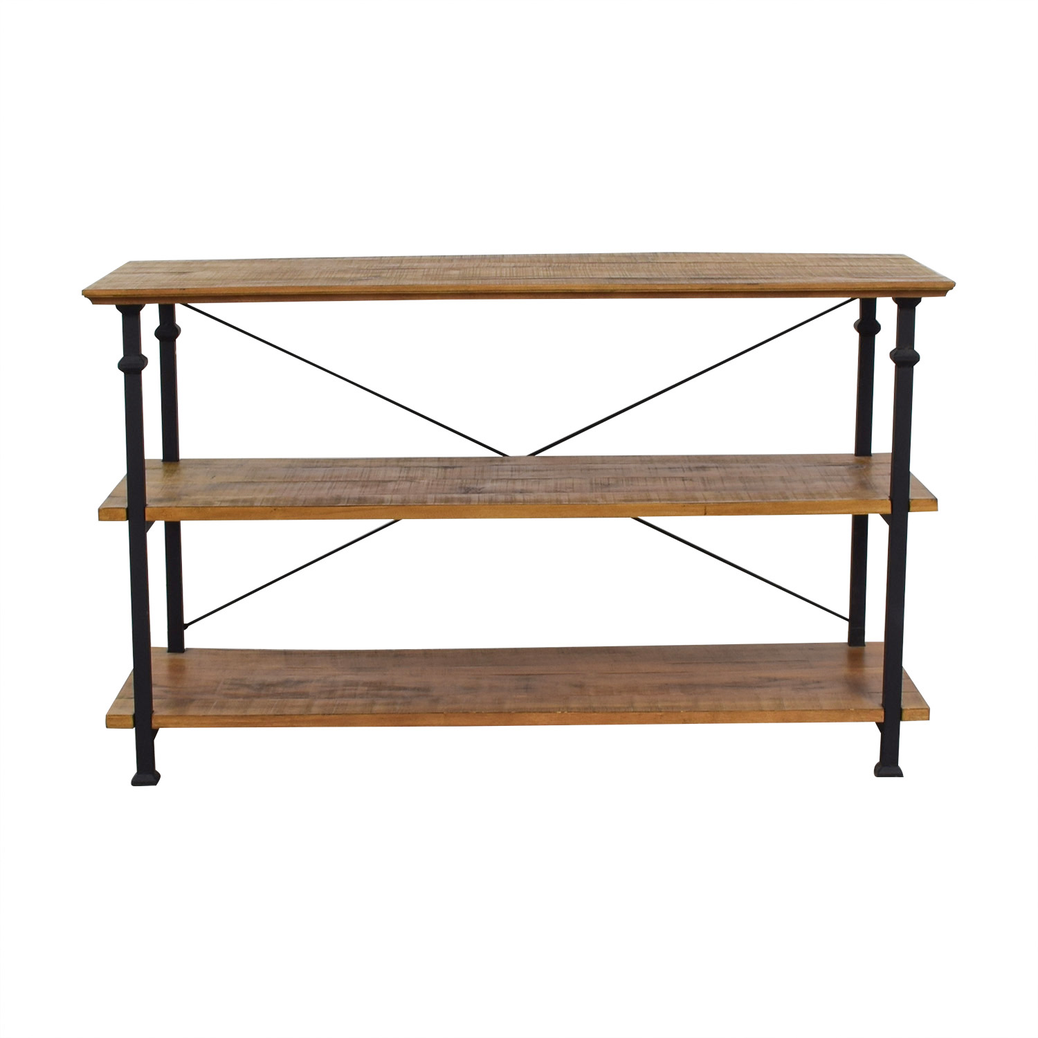 Macy's Macy's Rustic Wood Media Console Table for sale
