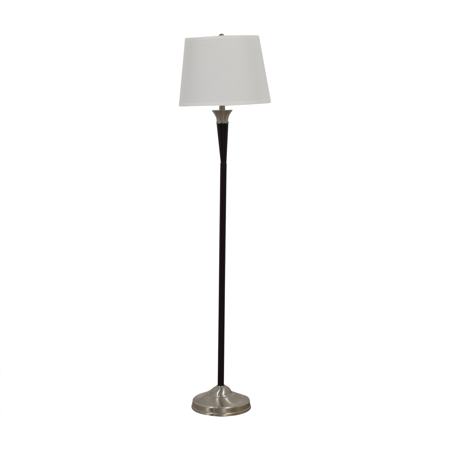 MCM Silver Finish Floor Lamp second hand