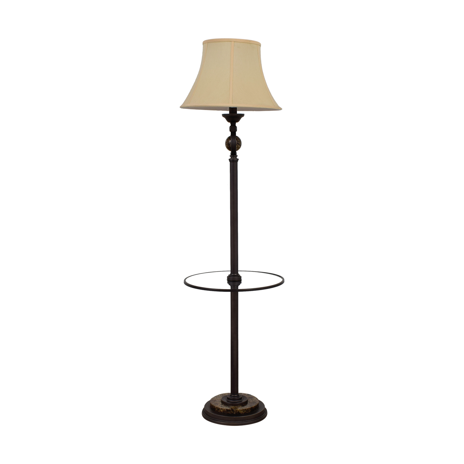 Crate & Barrel Floor Lamp with Glass Center Ledge / Lamps