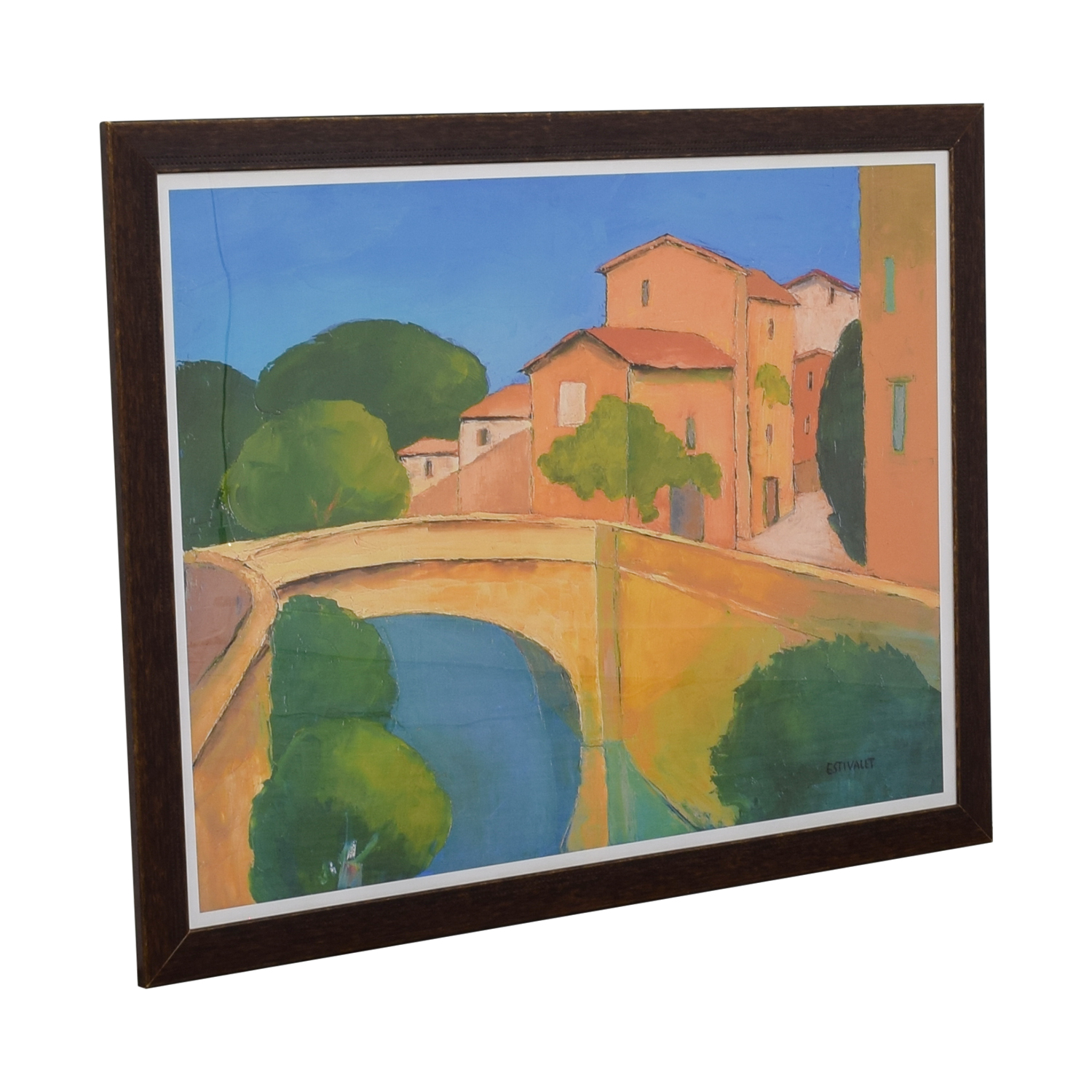 Framed Print Houses On A Canal coupon