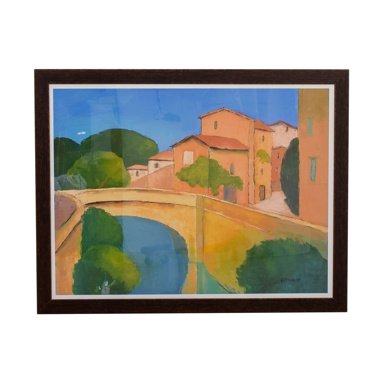 Framed Print Houses On A Canal used