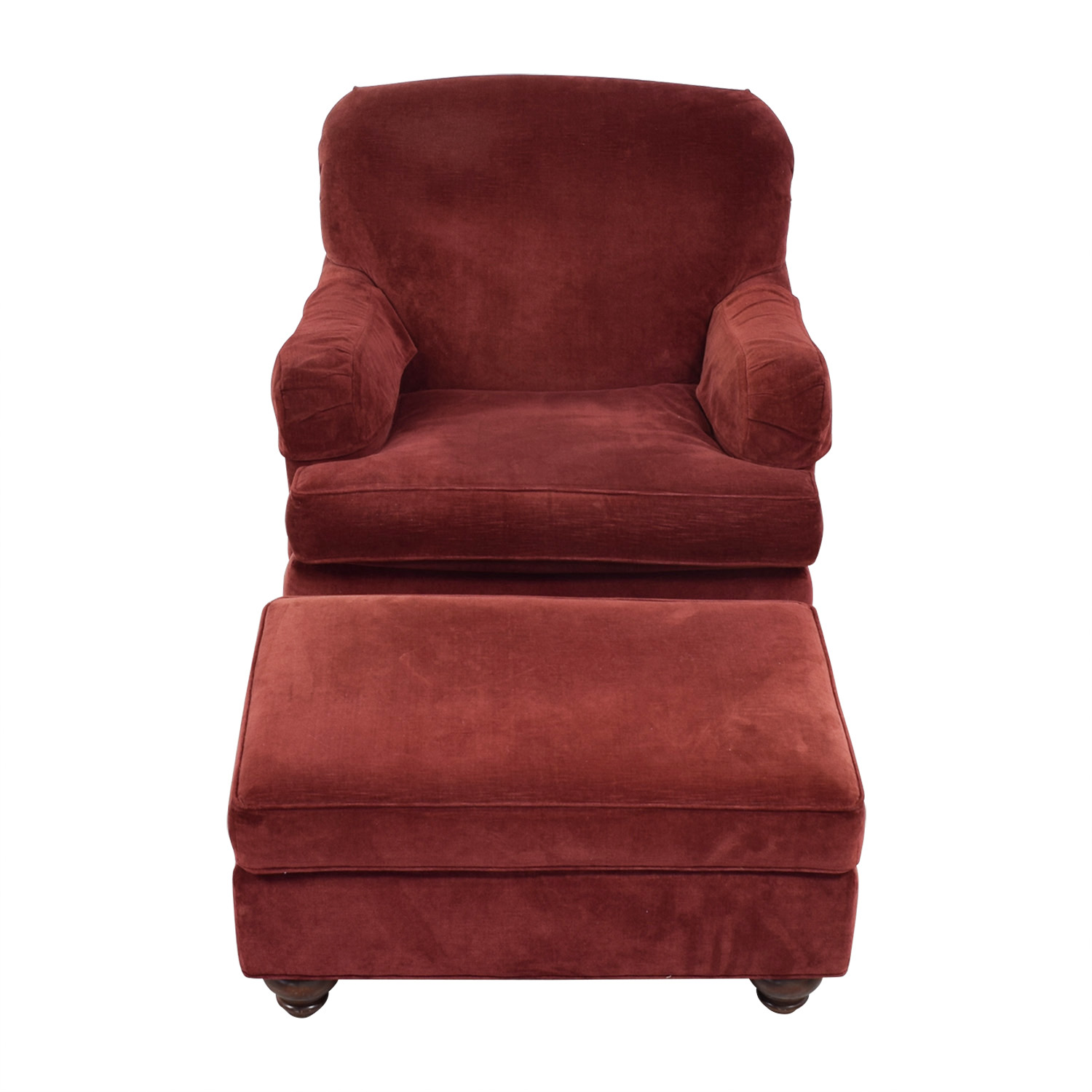 Ethan Allen Ethan Allen Cherry Accent Chair and Ottoman discount