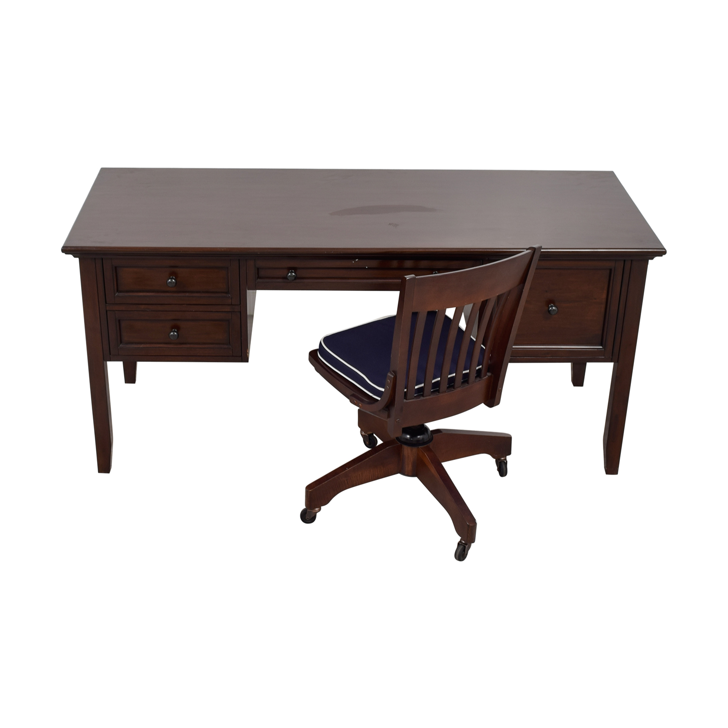 Pottery Barn Pottery Barn Four-Drawer Desk and Chair