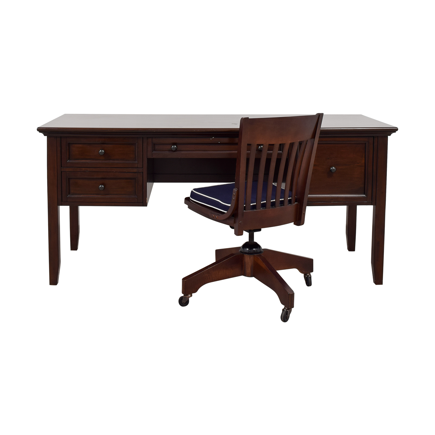 buy Pottery Barn Four-Drawer Desk and Chair Pottery Barn Home Office Desks