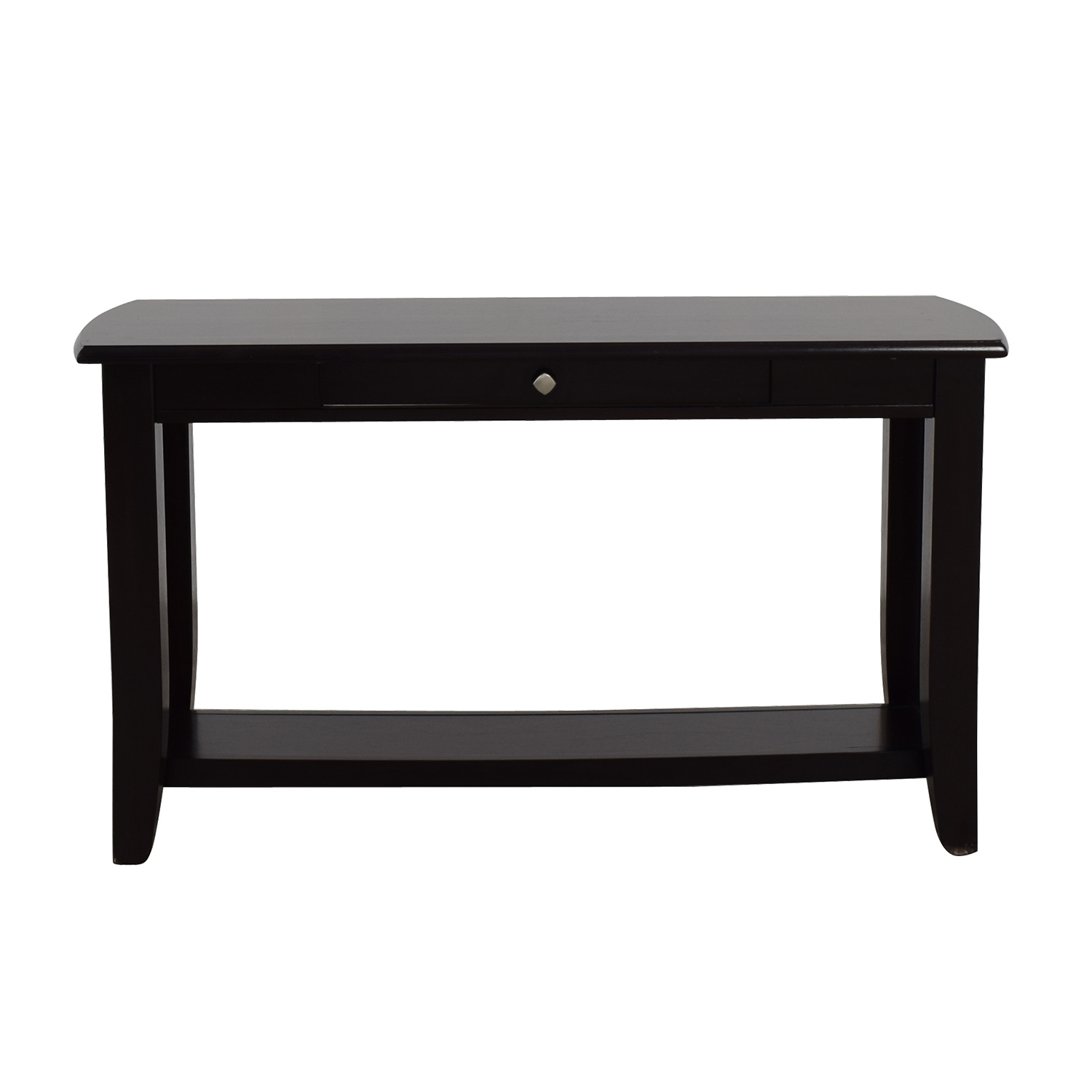 shop Raymour & Flanigan Single Drawer Wood Console Table Raymour & Flanigan Storage