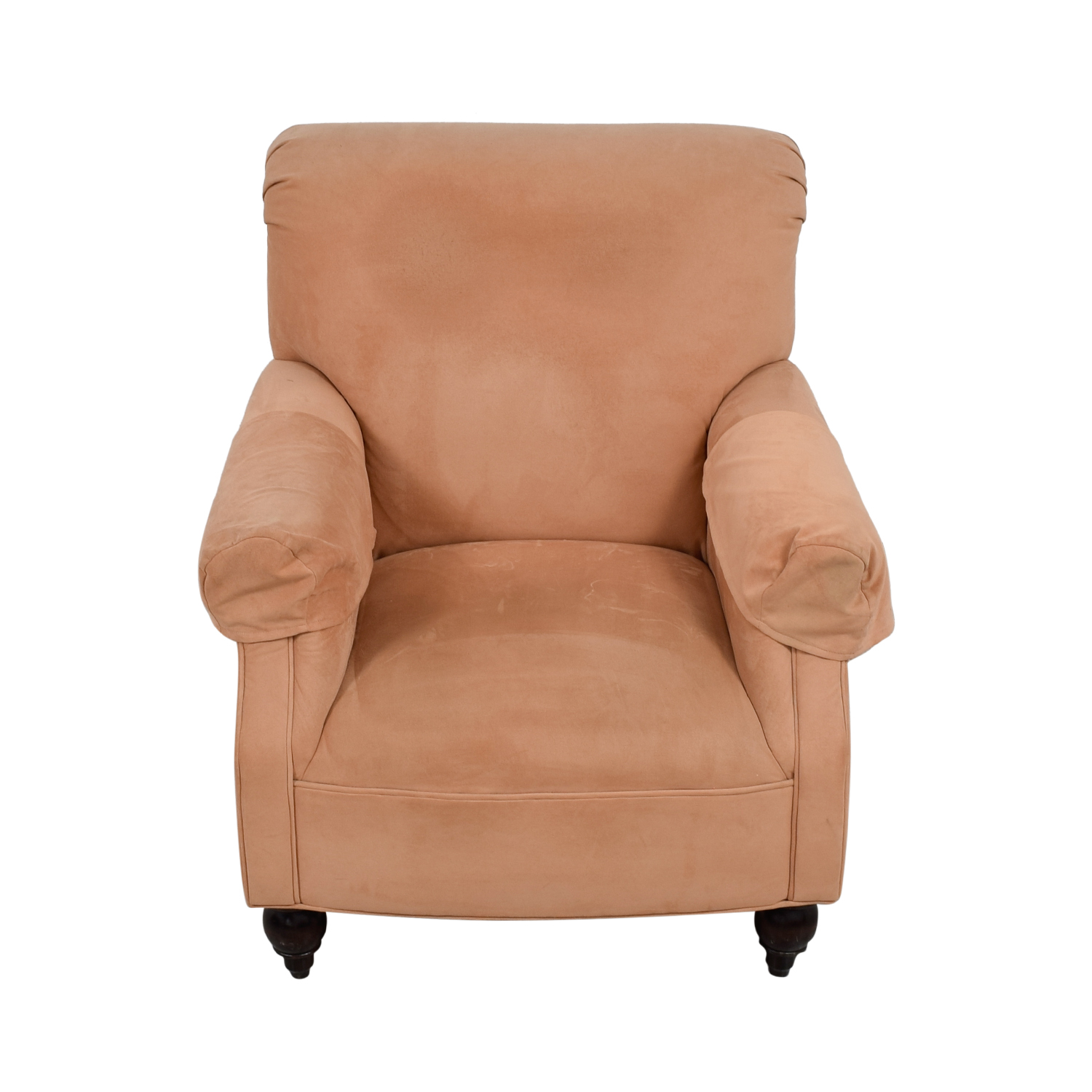 shop Devon Microfiber Salmon Accent Chair Expressions