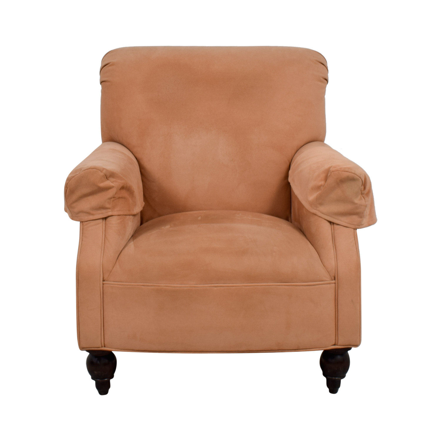 Expressions Devon Microfiber Salmon Accent Chair on sale