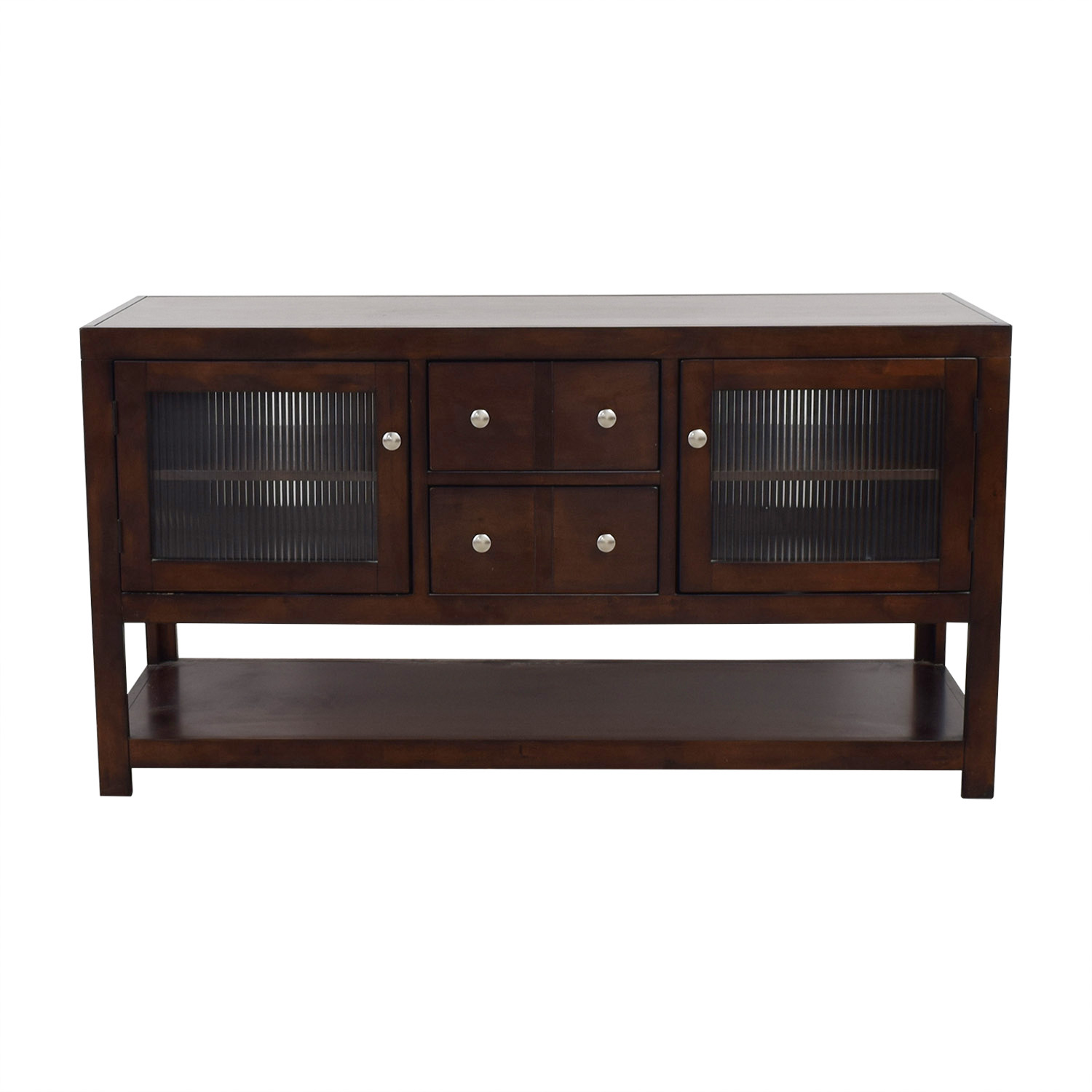 buy Raymour & Flanigan Wood and Glass TV Console Raymour & Flanigan