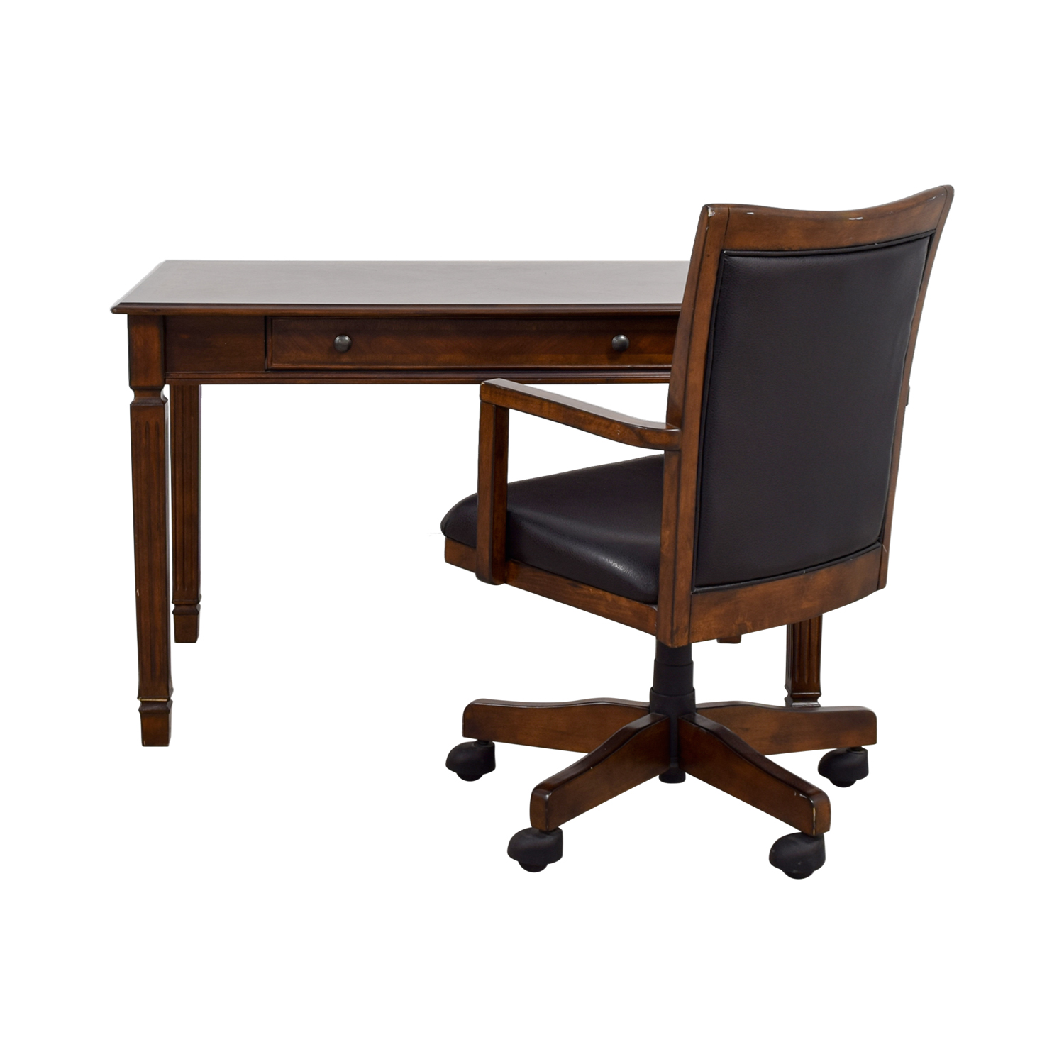 Ashley Furniture Store Ashley Furniture Store Wood Writing Desk and Chair brown