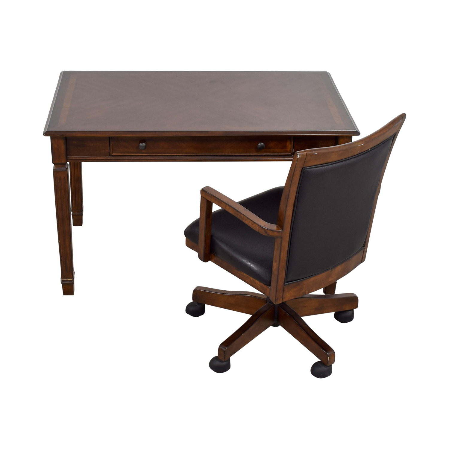 Ashley Furniture Store Wood Writing Desk and Chair sale