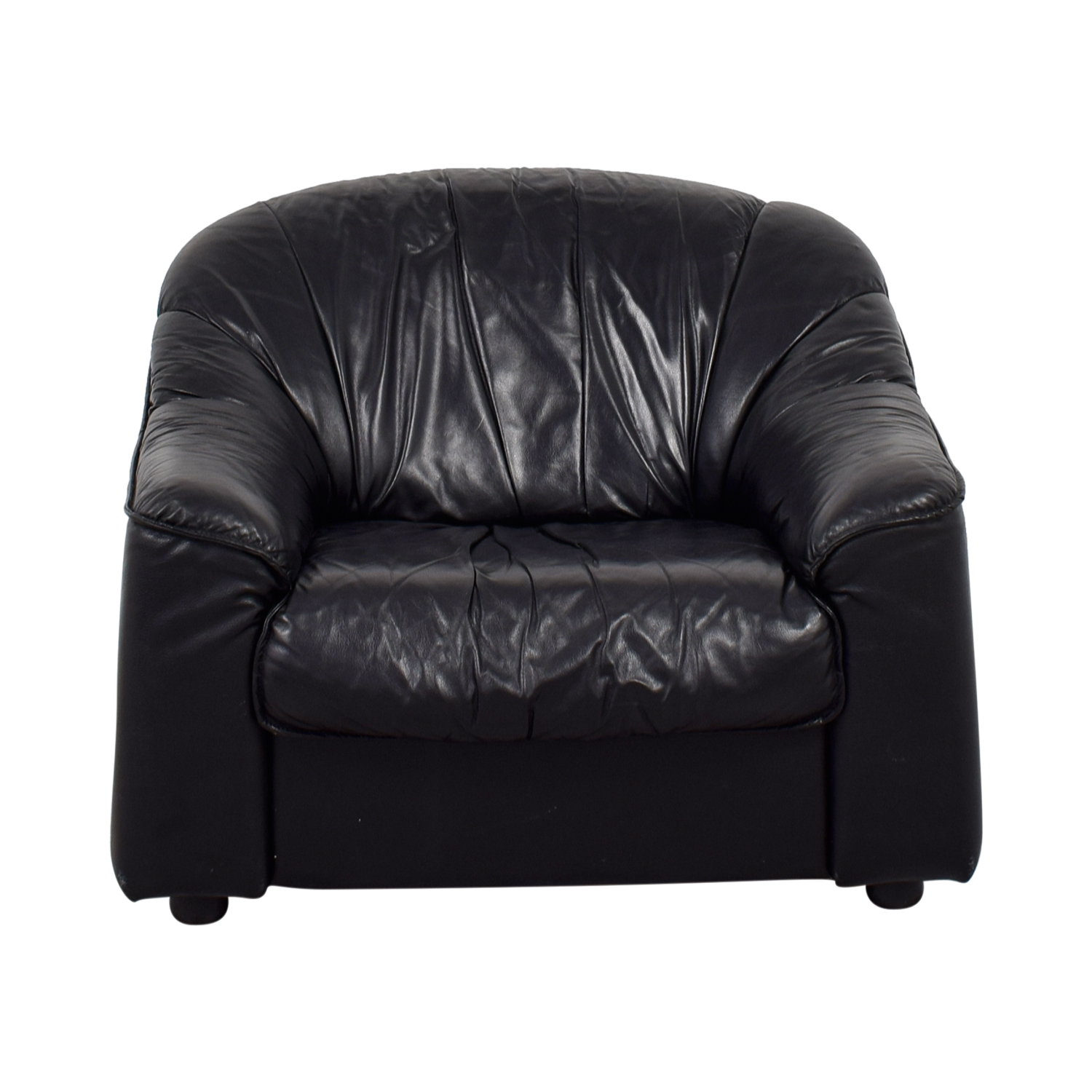 Natuzzi Natuzzi Black Leather Accent Chair Sofas