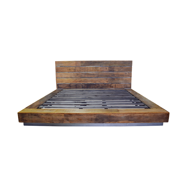 Environment Furniture Environment Furniture Rustic Wood King Beam Bed Frame coupon
