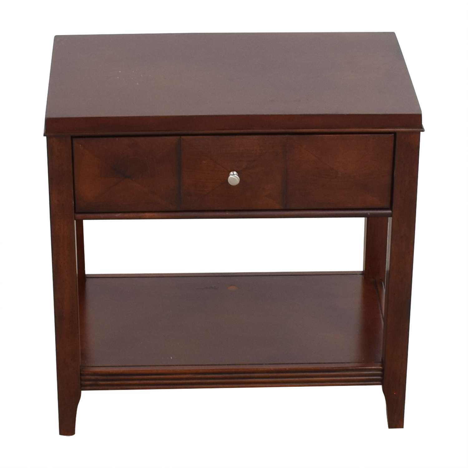 shop Raymour & Flanigan Shadow Expresso Single Drawer Nightstand Raymour & Flanigan Tables