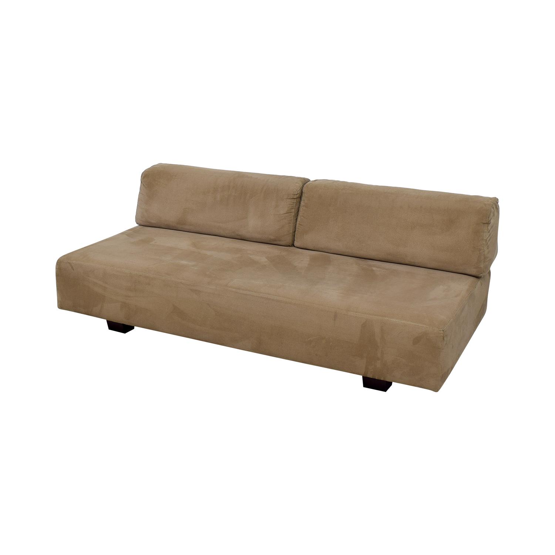 West Elm West Elm Tan Interchangable Sofa discount
