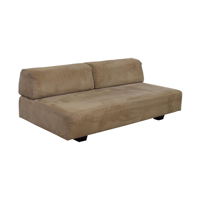 West Elm West Elm Tan Interchangable Sofa for sale