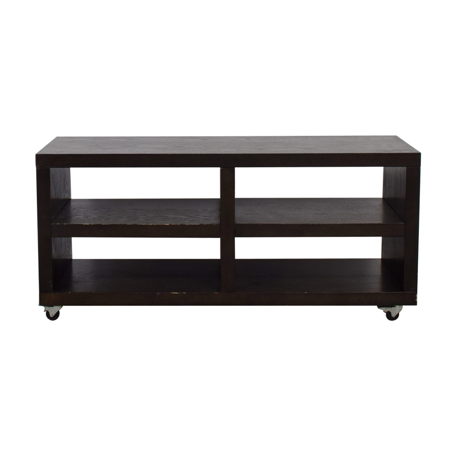 West Elm West Elm Wood TV Stand on Casters used