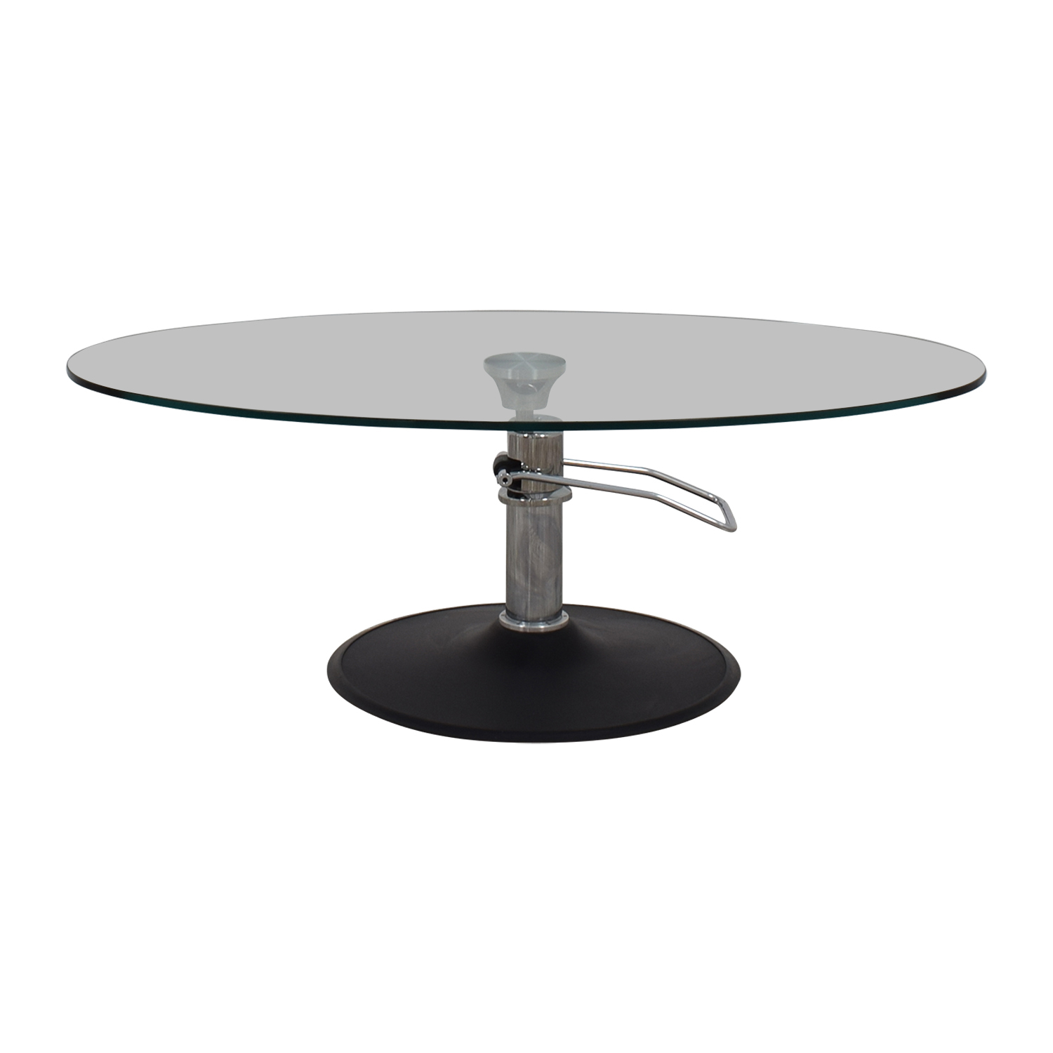 Hydra Designs Hydra Designs Oval Adjustable Glass Coffee Table Coffee Tables