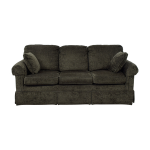 Ethan Allen Bennett Grey Three-Cushion Sofa sale