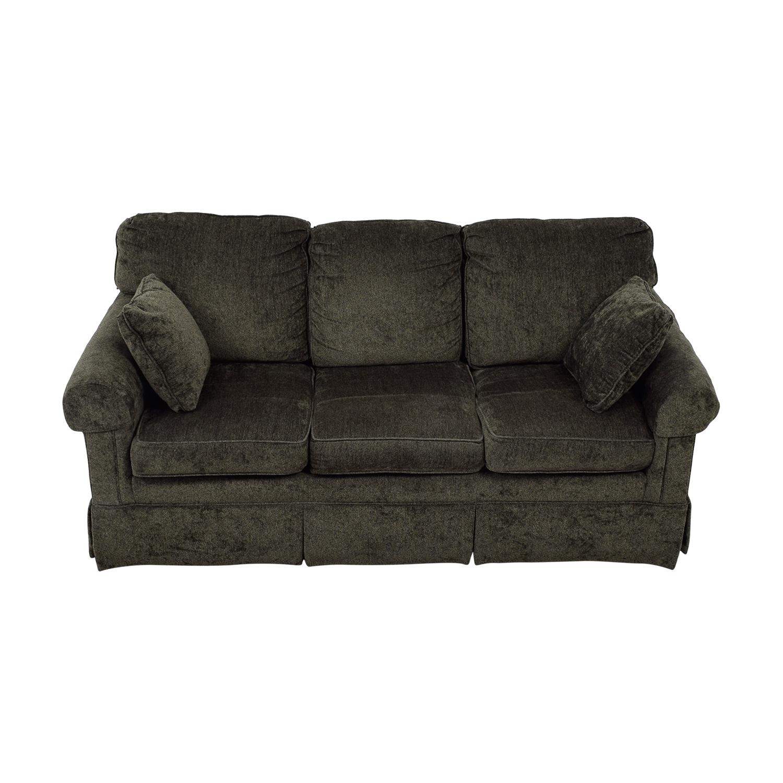 shop Ethan Allen Ethan Allen Bennett Grey Three-Cushion Sofa online