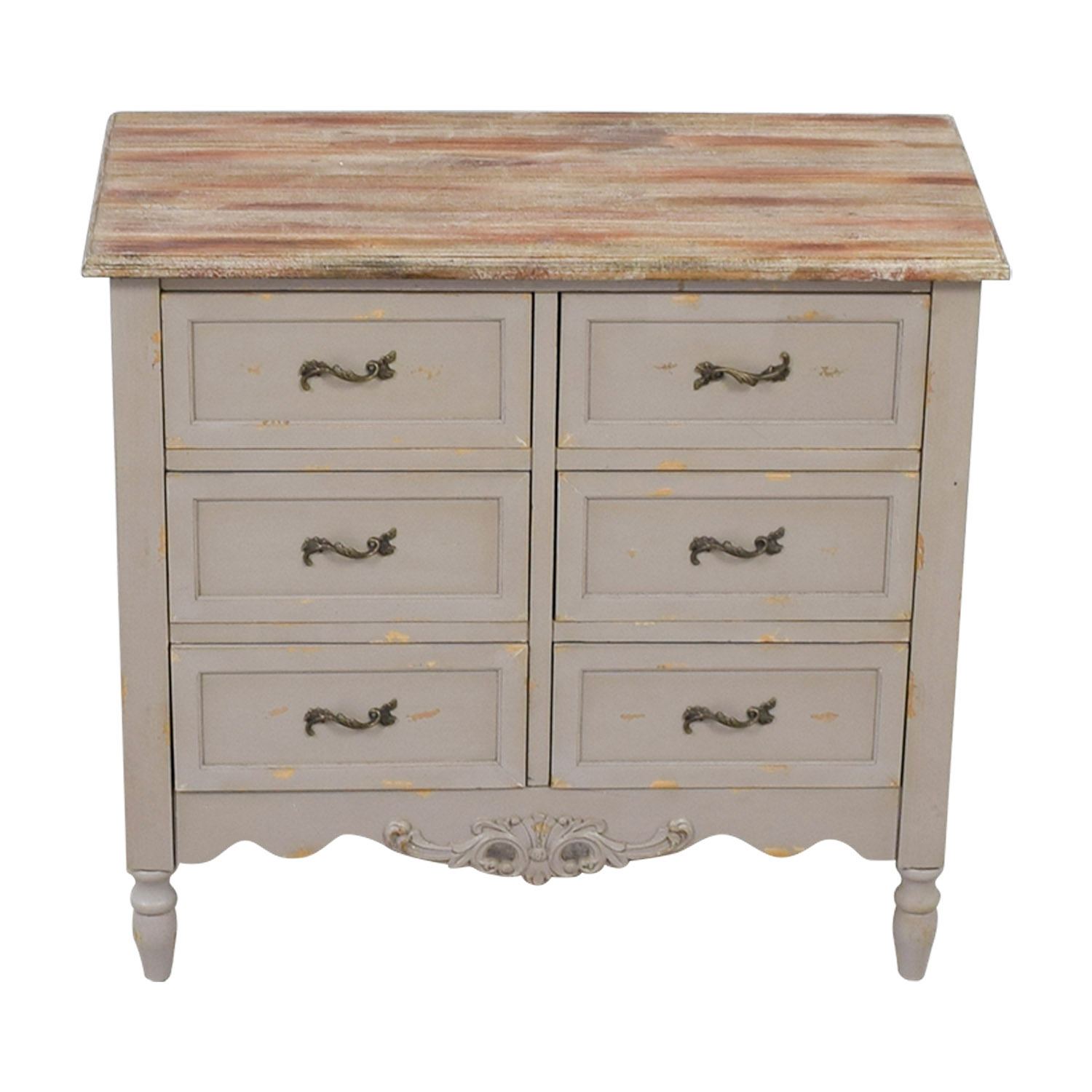 buy Powell Piper Hall Rustuc Six-Drawer Chest Powell