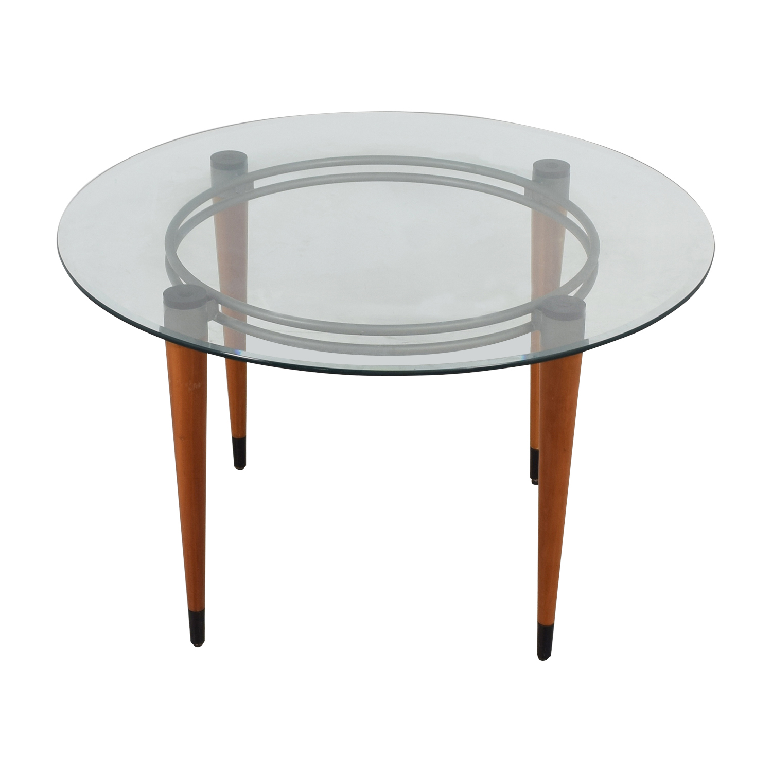shop Round Glass Italian Dining Table