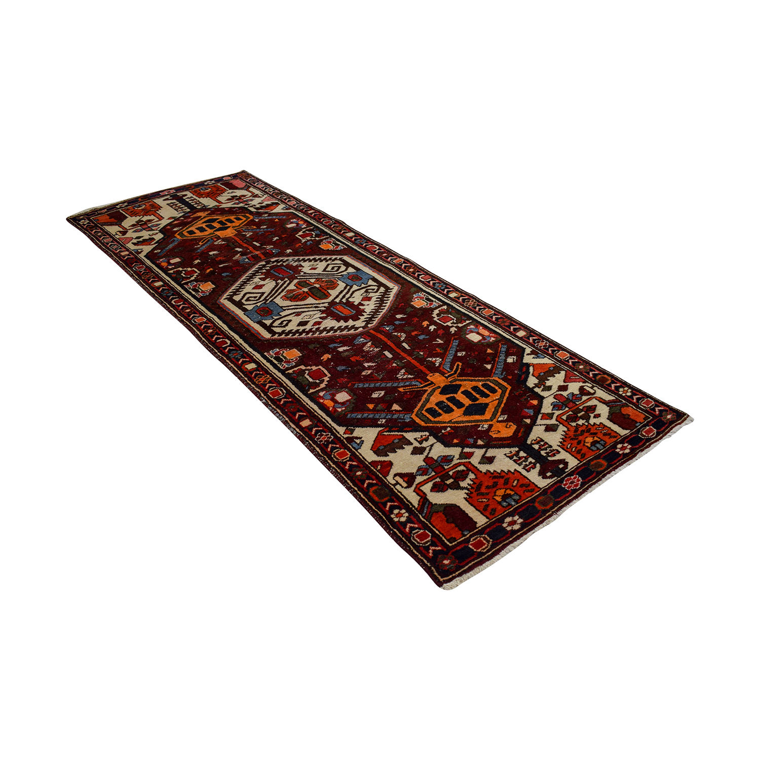 Turkish Hand Made Wool Runner Rug for sale