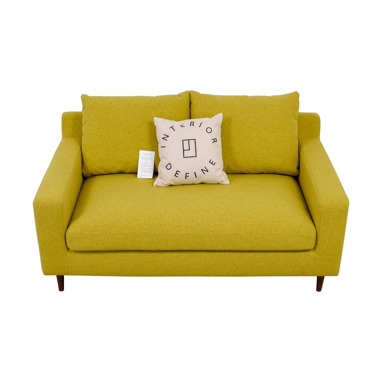 Sloan Yellow Single Cushion Loveseat dimensions