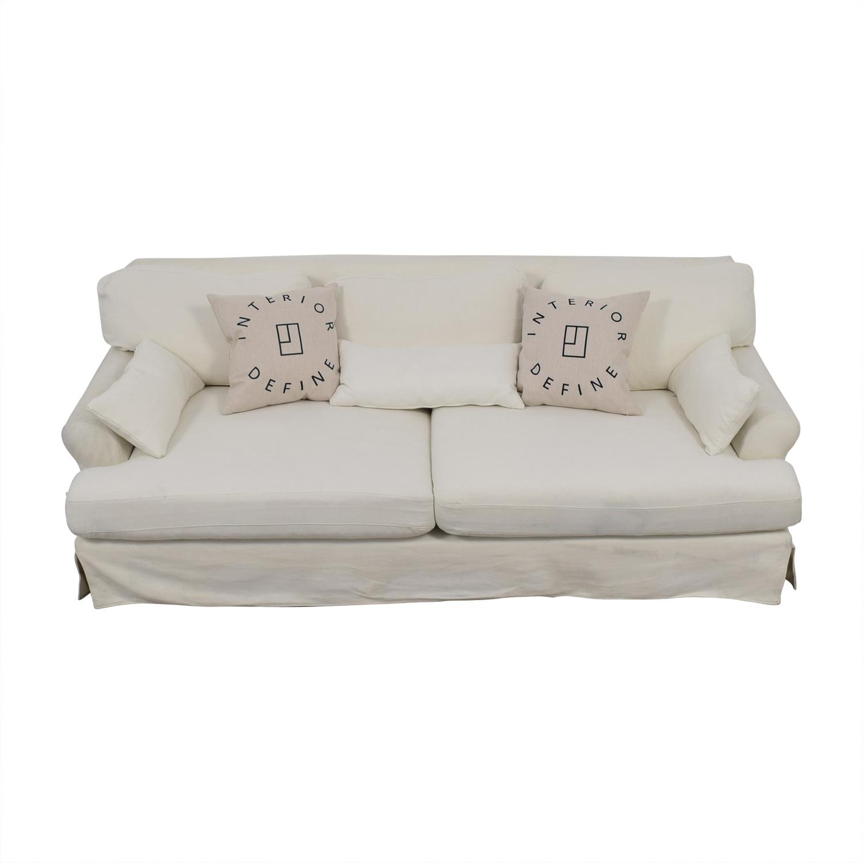 buy Maxwell White Slipcovered Sofa  Sofas