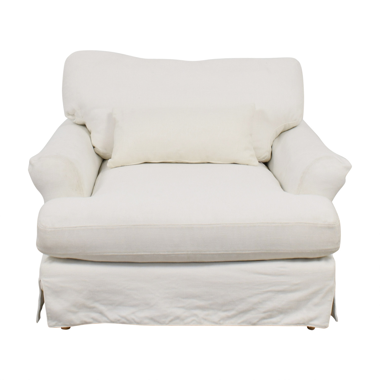 buy Maxwell White Slipcovered Accent Chair  Chairs