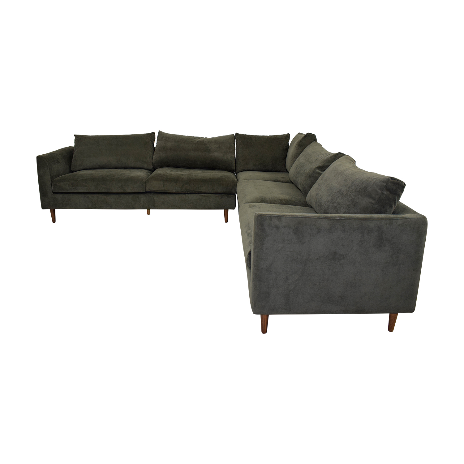 Owens Grey L-Shaped Sectional / Sofas