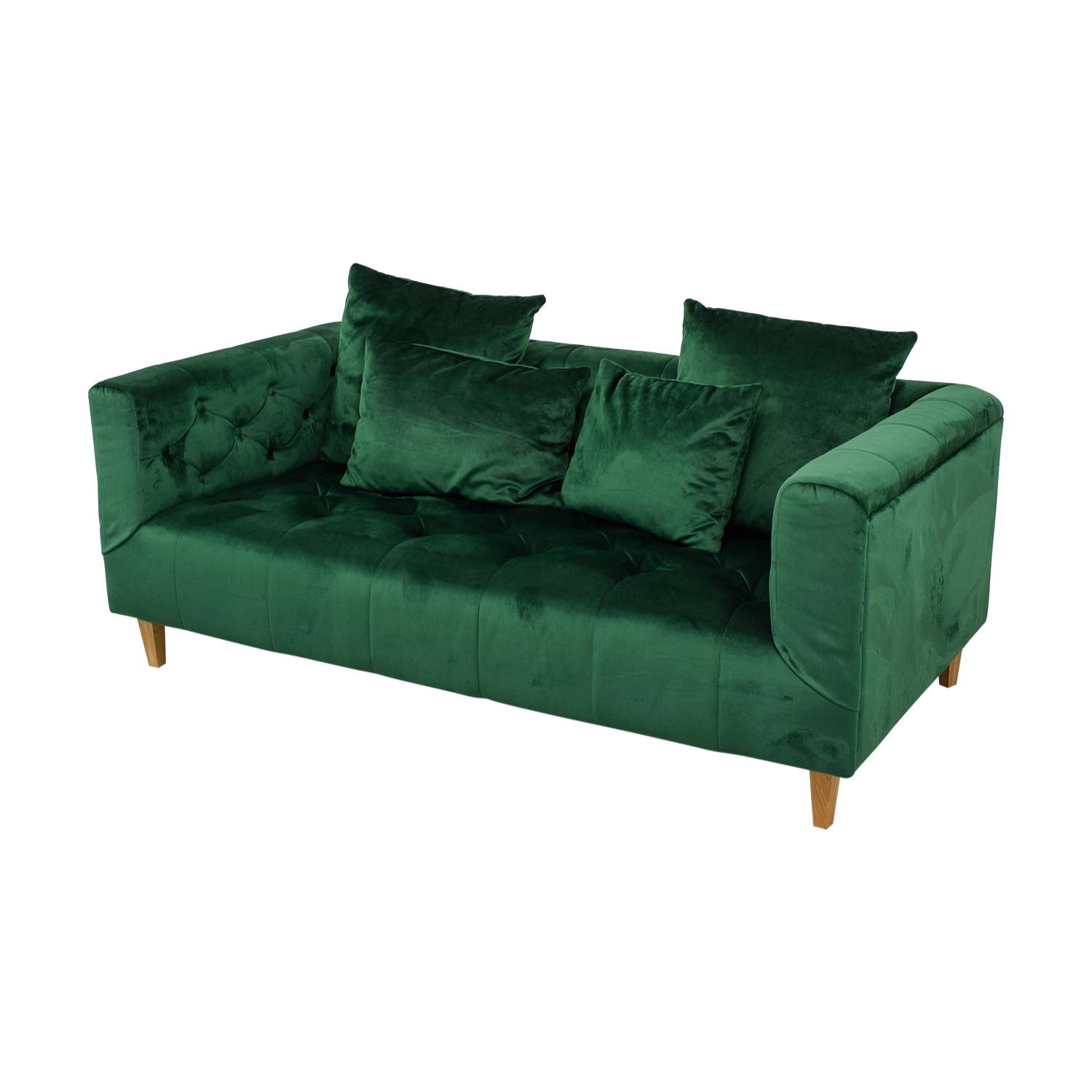 50% OFF - Ms. Chesterfield Green Tufted Sofa / Sofas