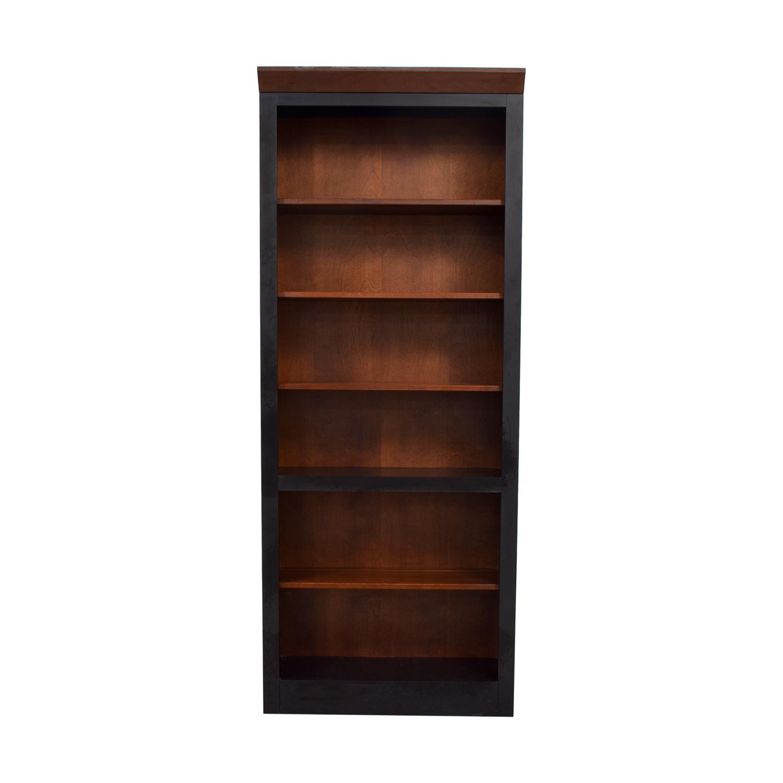 Ethan Allen Ethan Allen Cherry and Ebony Wood Book Case dimensions