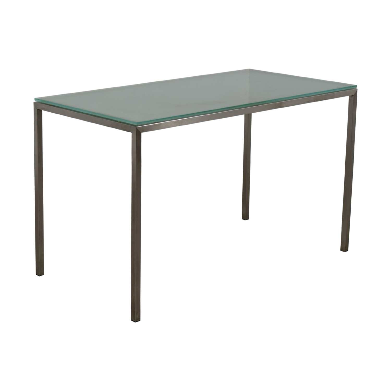Room & Board Glass and Steel Desk / Home Office Desks