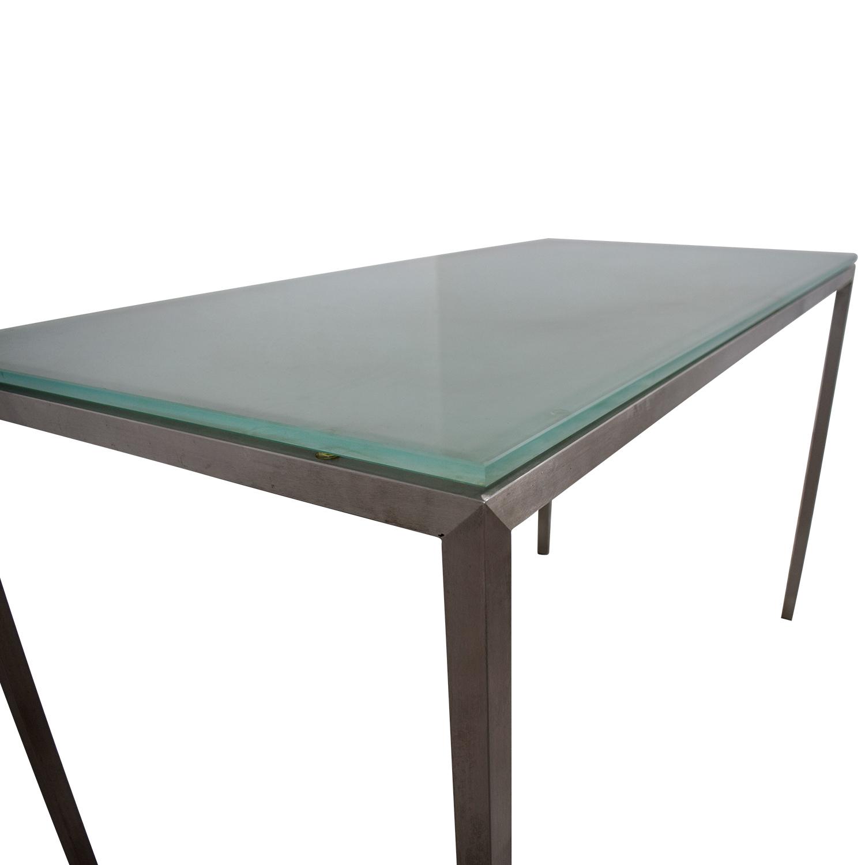 Room & Board Room & Board Glass and Steel Desk