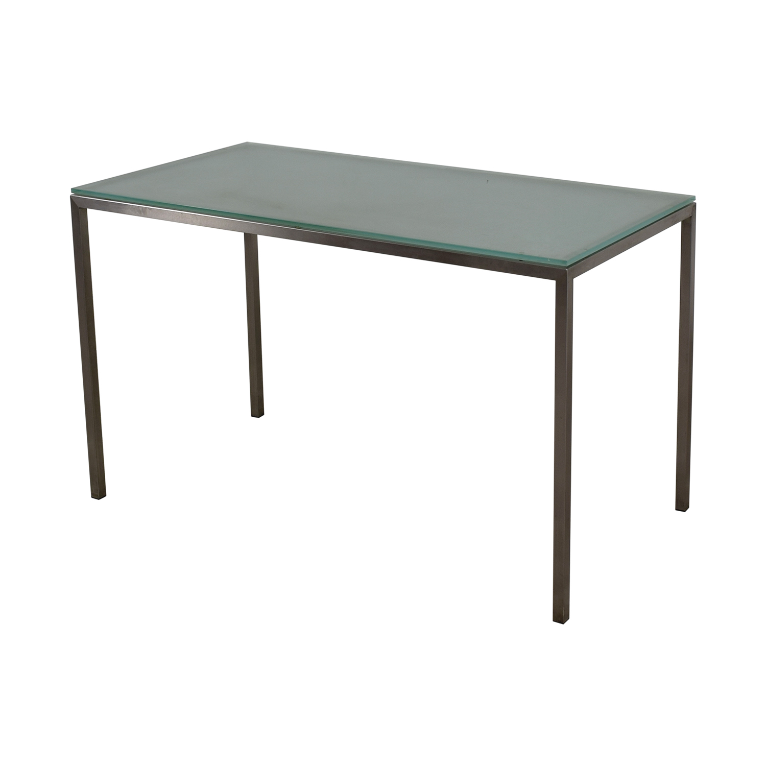 75% OFF - Room & Board Room & Board Glass and Steel Desk / Tables