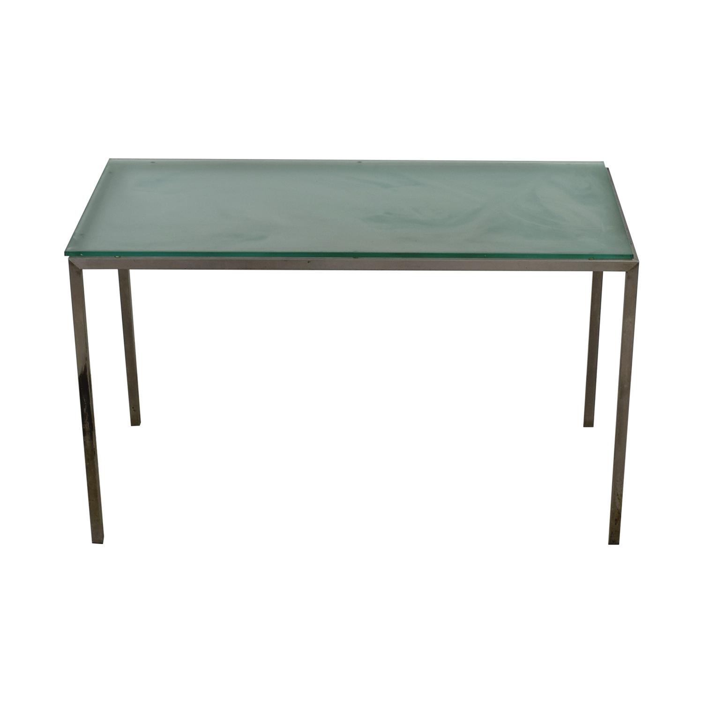 Room & Board Room & Board Glass and Steel Desk dimensions