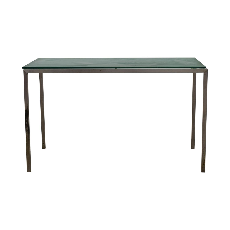 Room & Board Glass and Steel Desk Room & Board