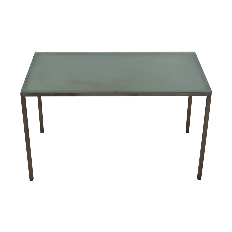 Room & Board Glass and Steel Desk sale
