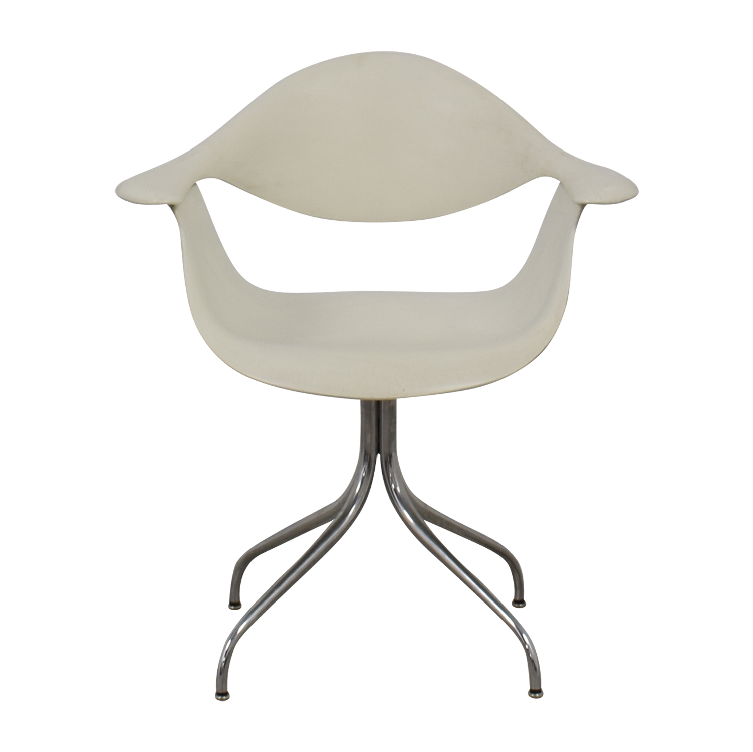 Herman Miller Herman Miller Charles Eames White Desk Chair Accent Chairs