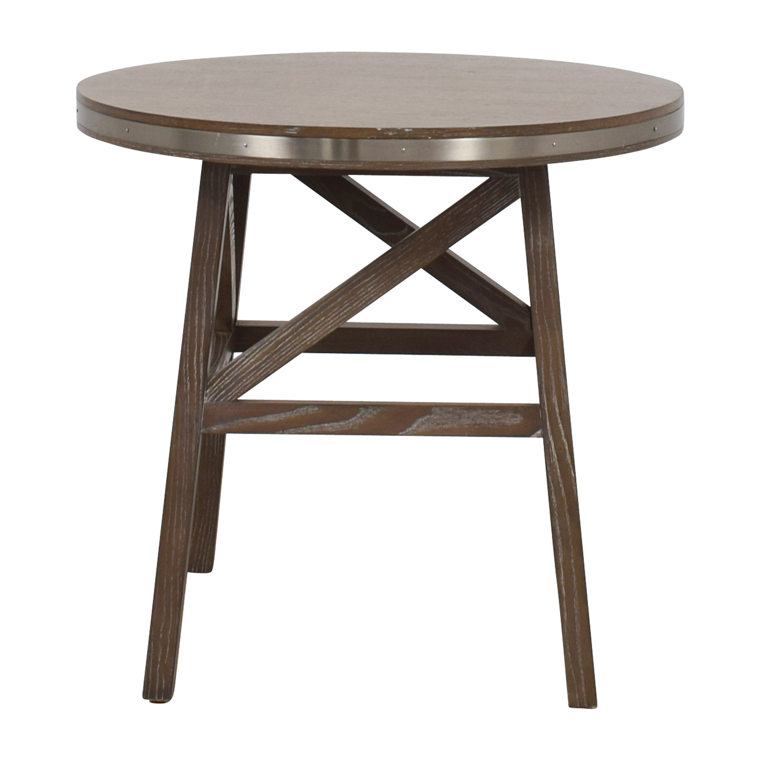 Mitchel Gold + Bob Williams Mitchel Gold + Bob Williams Round Wood Side Table second hand