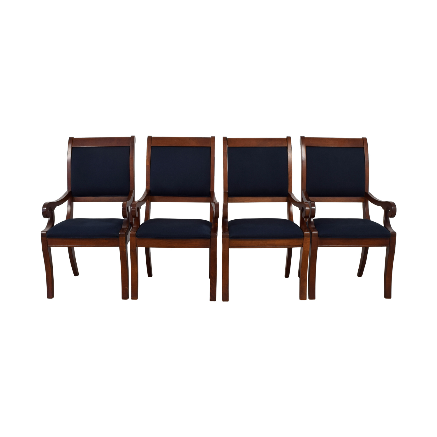 shop  Wood and Blue Upholstered Dining Chairs online