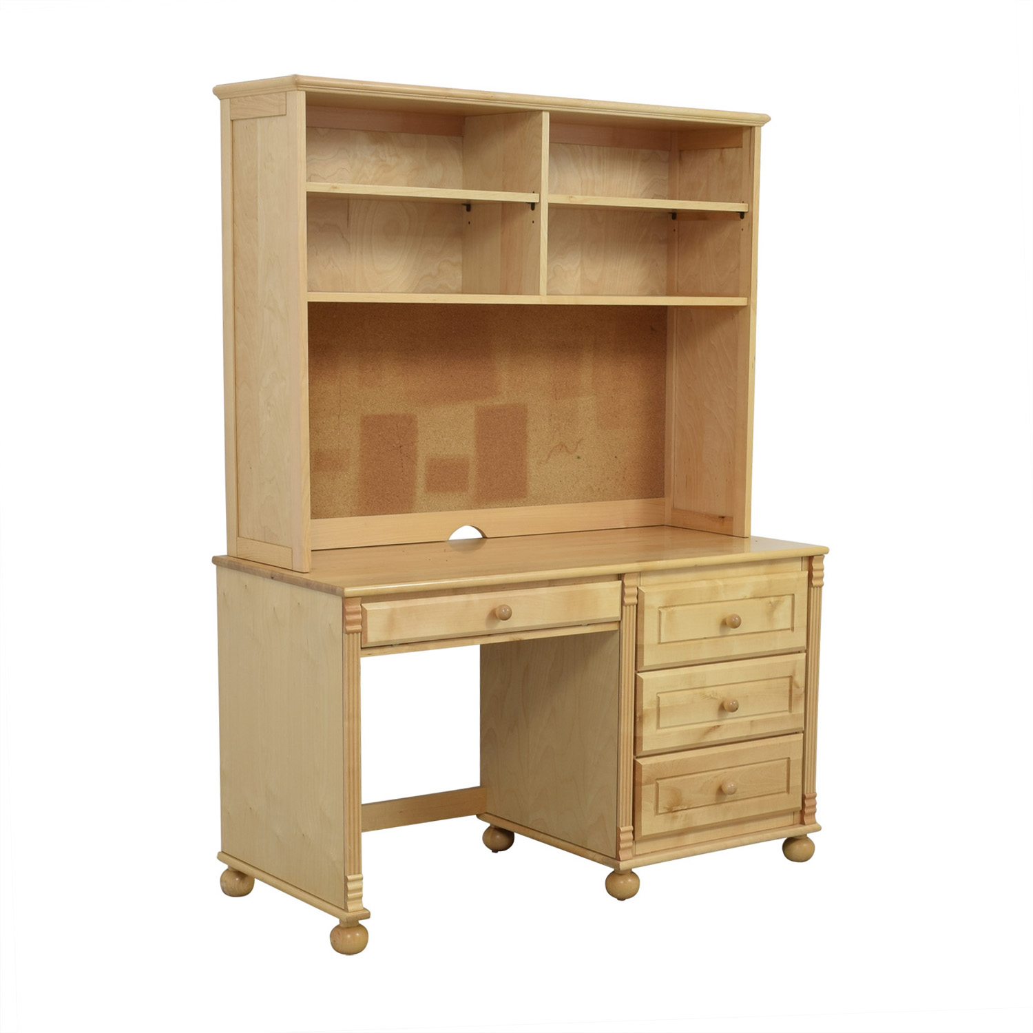 Bellini Natural Wood Desk With Hutch Used