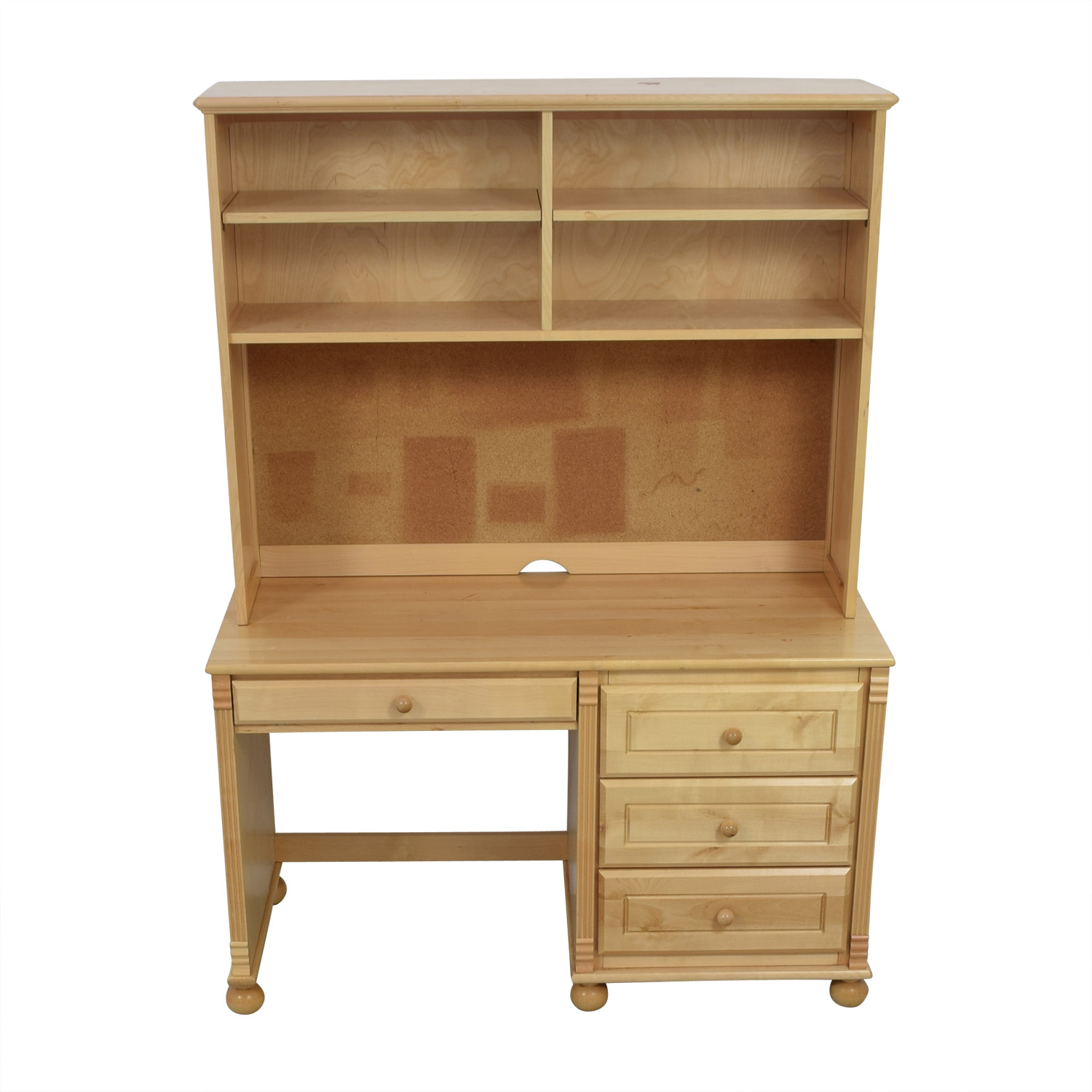 Bellini Bellini Natural Wood Desk with Hutch Sofas
