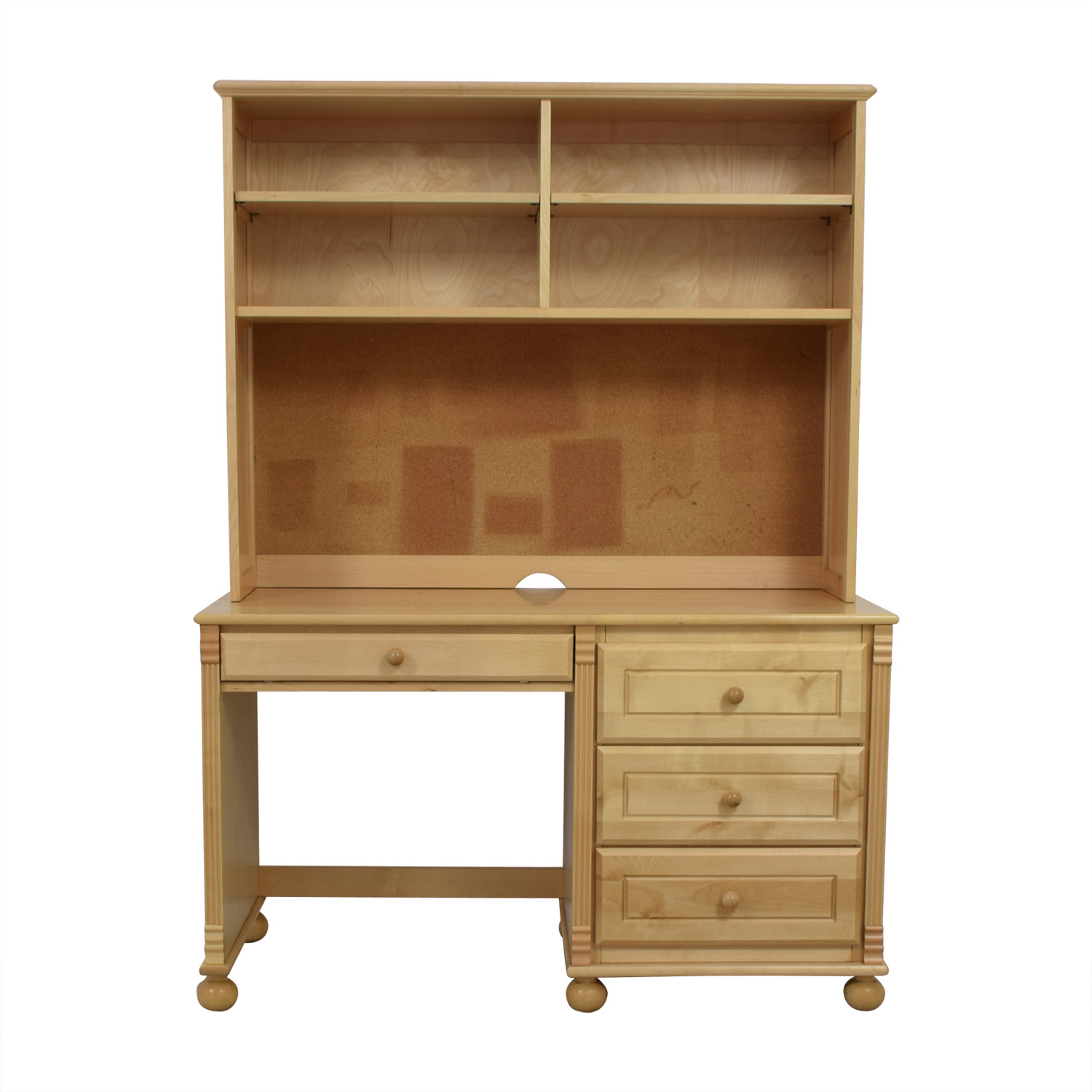 Bellini Natural Wood Desk with Hutch / Sofas