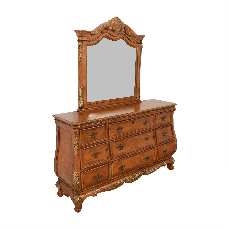 Raymour & Flanigan Raymour & Flanigan Nine-Drawer Dresser and Mirror nyc