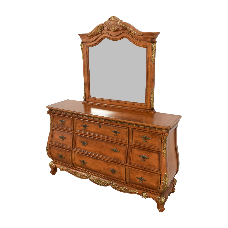 shop Raymour & Flanigan Raymour & Flanigan Nine-Drawer Dresser and Mirror online