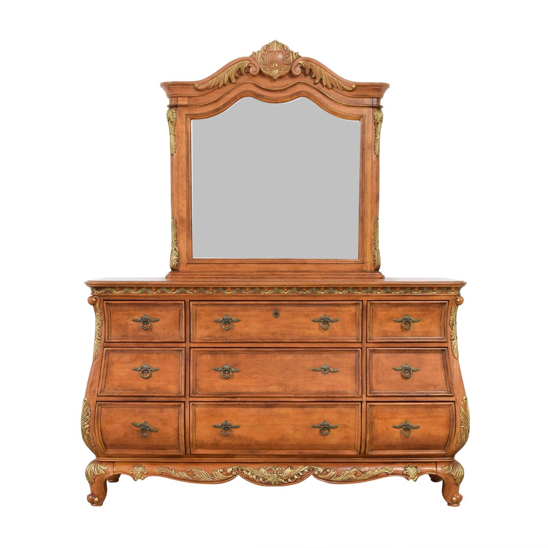 shop Raymour & Flanigan Nine-Drawer Dresser and Mirror Raymour & Flanigan Dressers