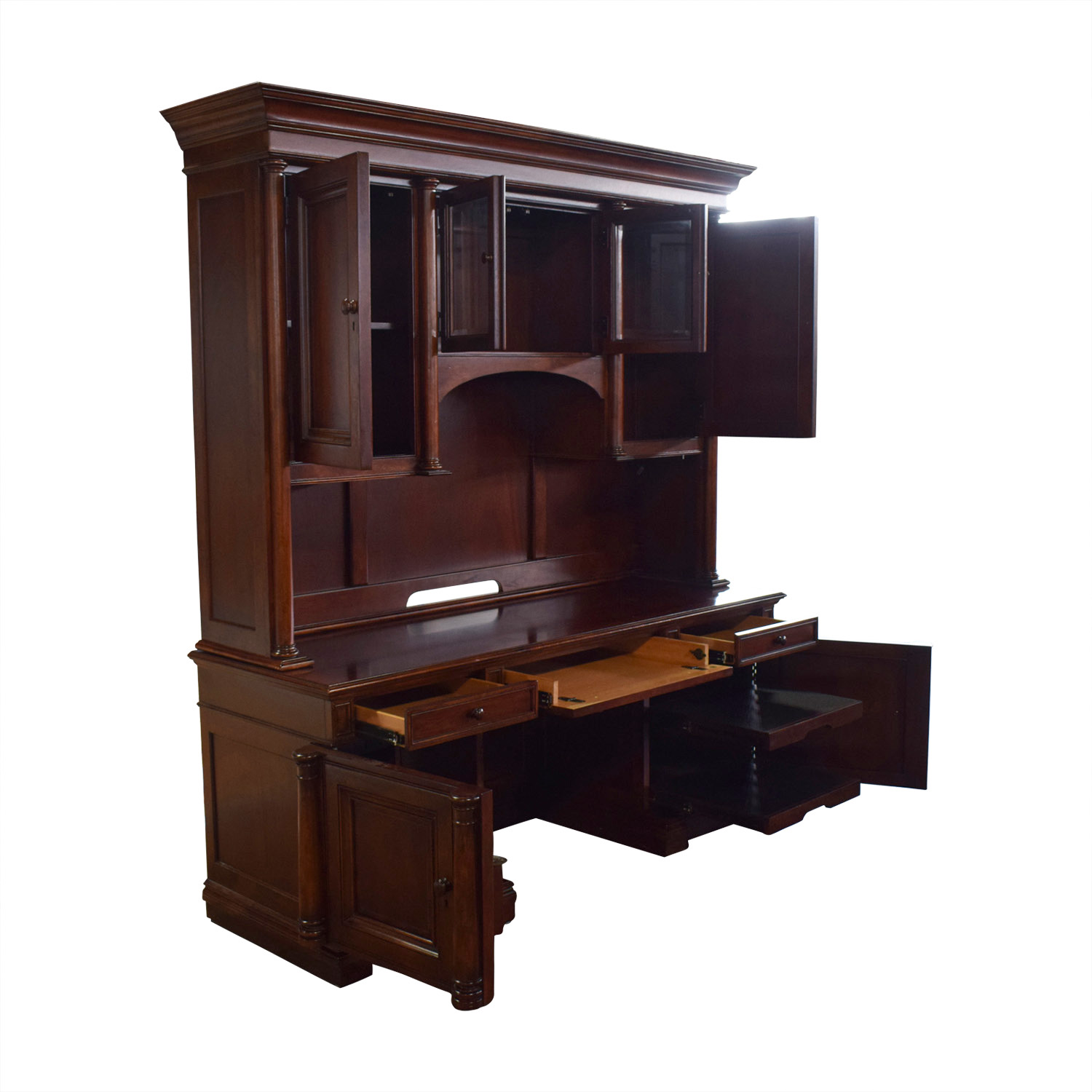 Thomasville Computer Credenza And Hutch Tables